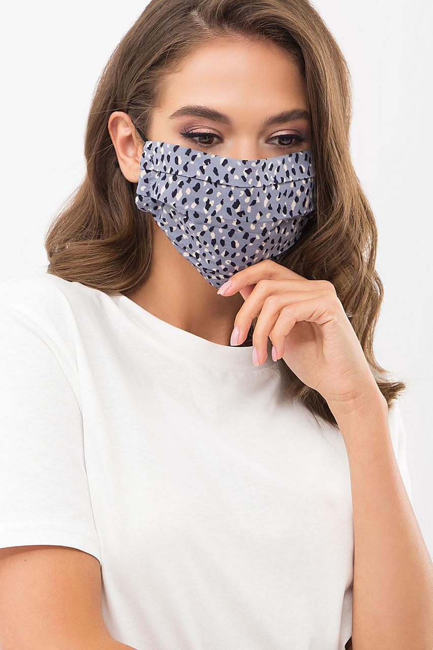 Маска для обличчя захисна тканинна з принтом