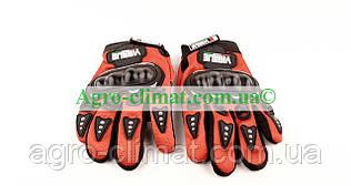 Мотоперчатки Virtue червоні size L