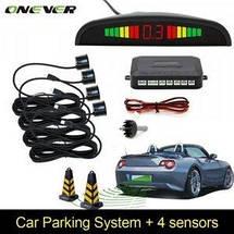 Паркувальна система на 4 датчика парковки парктронік Parking Assistant Sensor Black, фото 3
