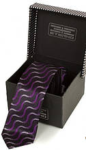 Обворожительный узкий галстук из шелка ETERNO (ЭТЕРНО) EG615 фиолетовый