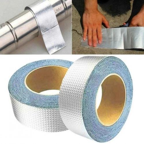Водонепроницаемая клейкая лента скотч 10 м, фольгированное покрытие 5см 1.2мм. Buryl Waterproof Tape