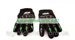 Мотоперчатки Virtue зелені текстиль XL