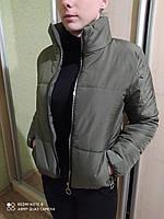 Короткая женская куртка весна цвет ХАКИ ПУДРА ЧЕРНЫЙ БЕЖЕВЫЙ МОКО КРАСНЫЙ весенняя женская куртка новинка 2021
