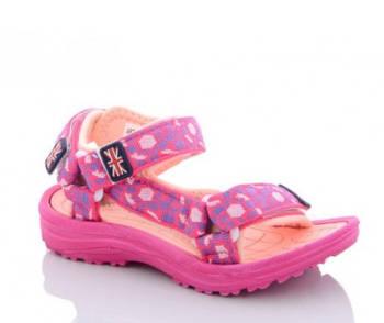 Детские спортивные сандалии девочкам, розовые босоножки на липучках