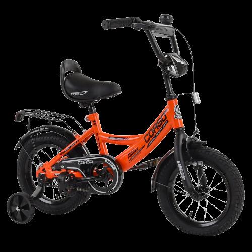 Велосипед детский для мальчика девочки 3 4 5 лет колеса 14 дюймов Corso CL-12913