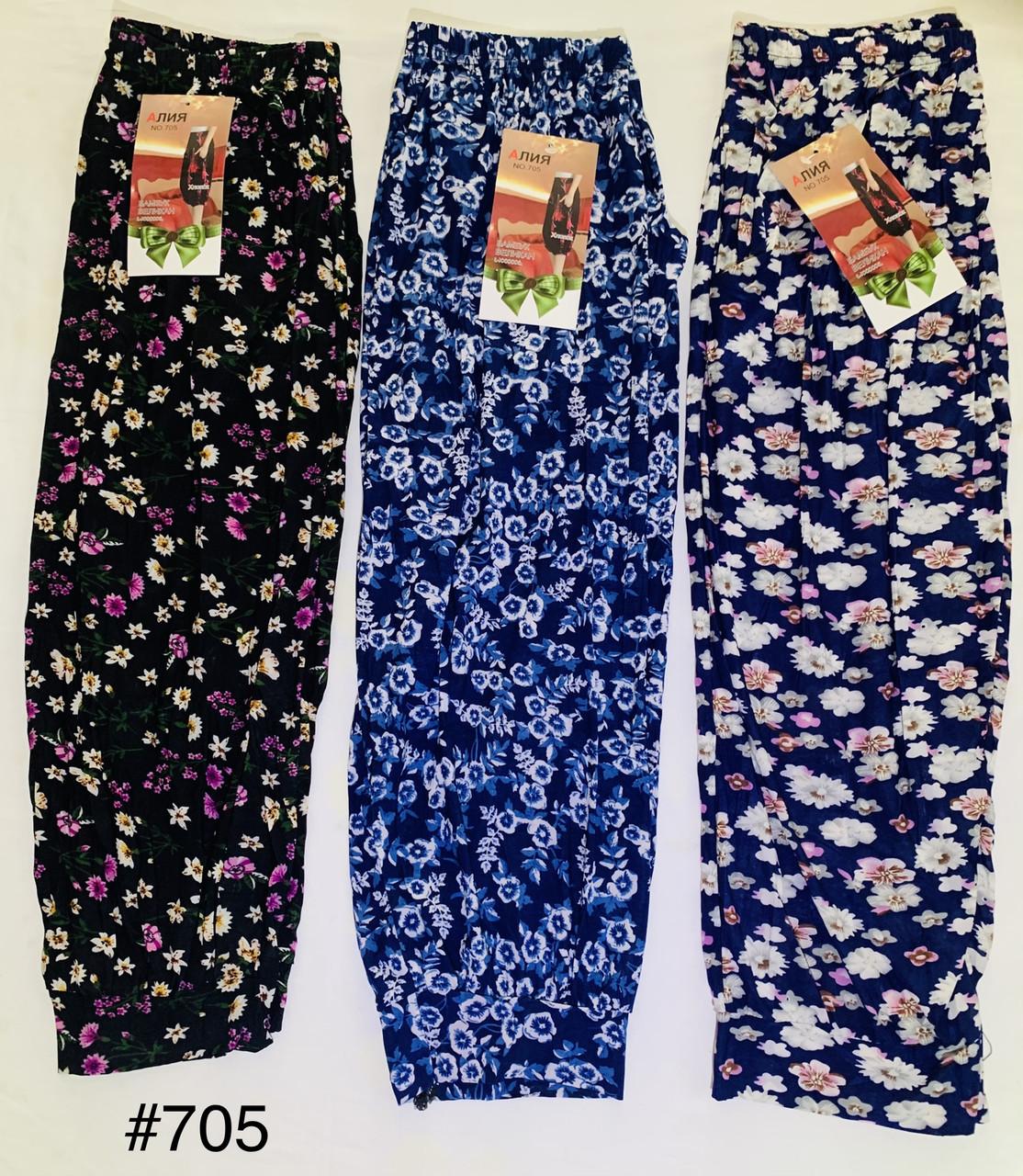 Бриджи Капри женские бамбуковые большие размеры с карманами