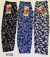 Бриджі Капрі жіночі бамбукові великі розміри з кишенями