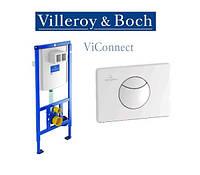Унитаз Villeroy&Boch Subway 2.0 + Soft-Close Slimseat + инсталляция с клавишей ViConnect 100