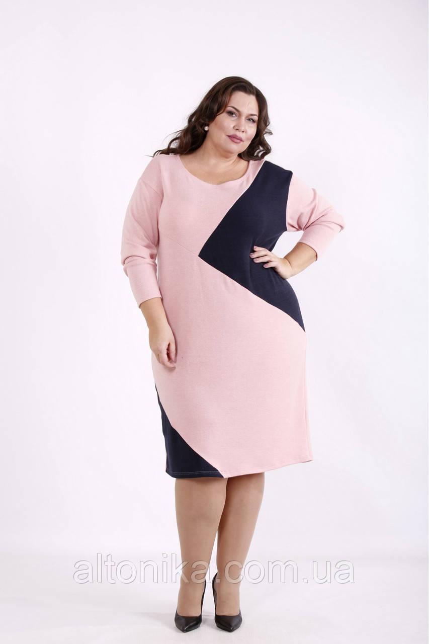 01720-1 | Рожеве плаття з синіми вставками 42