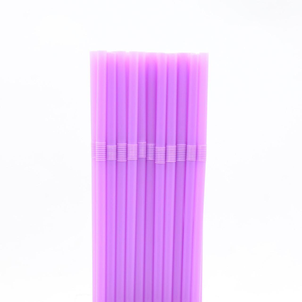 Трубочки для коктейля сиреневые 40шт/уп