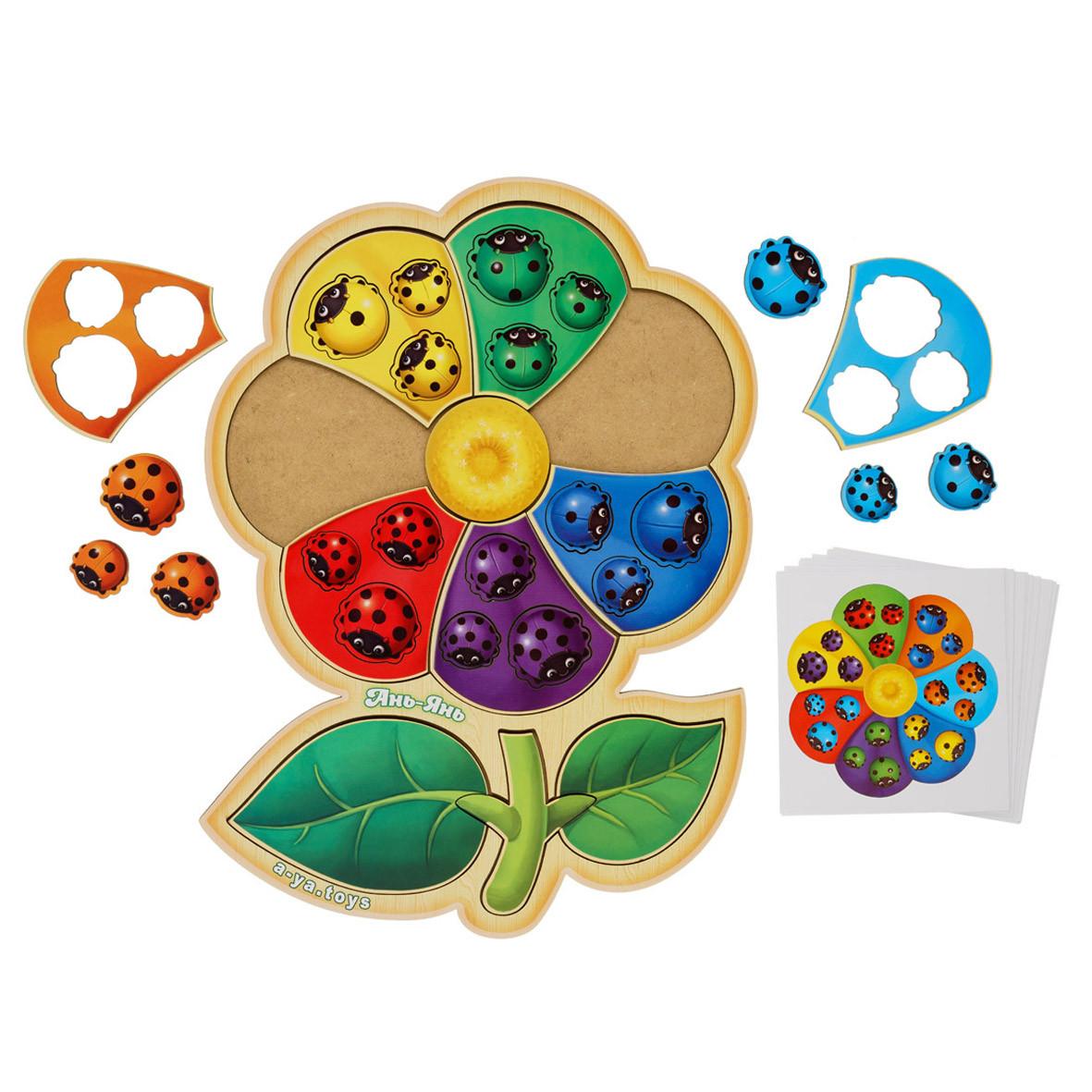 Пазл-сортер з картками: Цветик-семицветик - 2