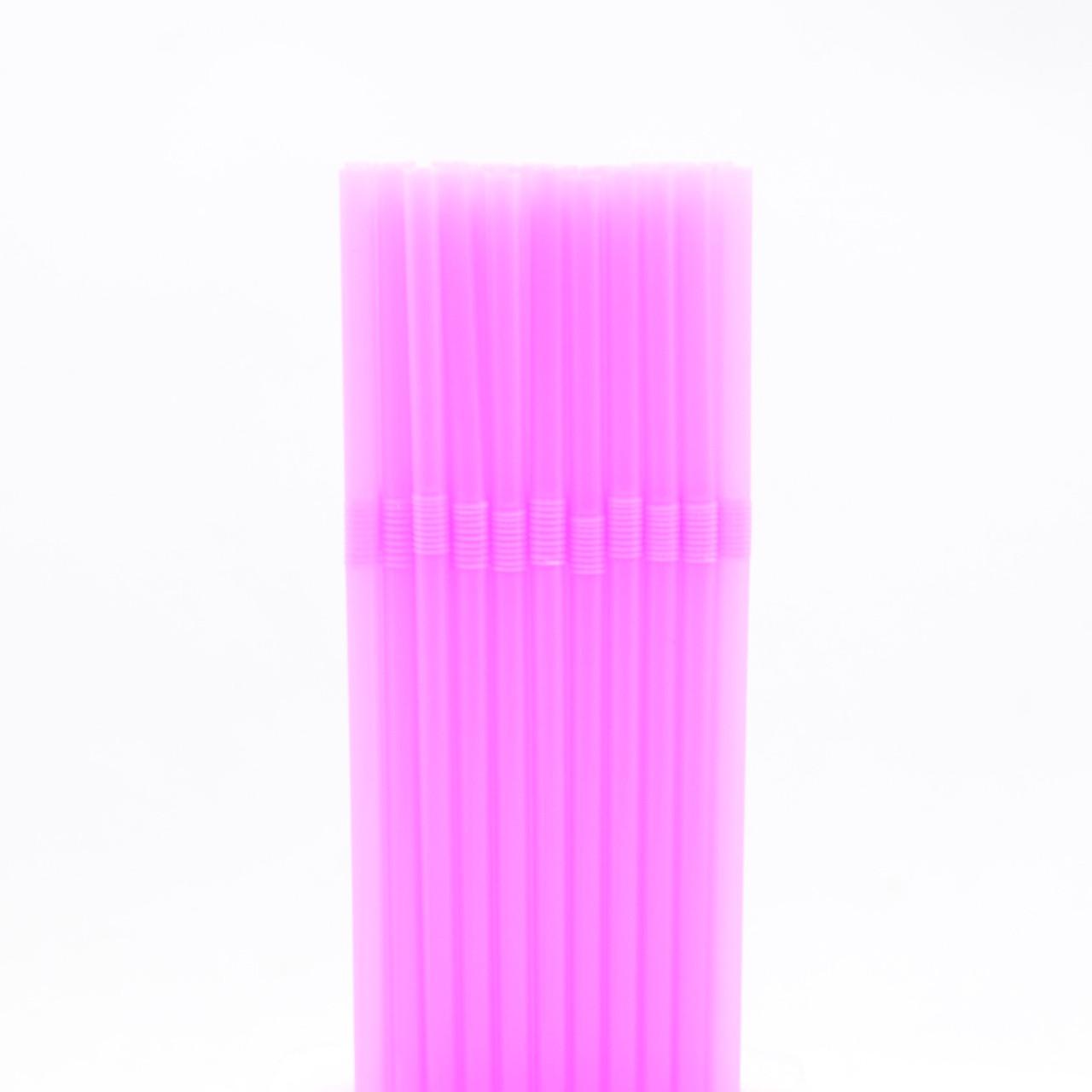 Трубочки для коктейлю рожеві 40шт/уп