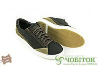 Мужские кожаные кроссовки Step wey, Черный 5545brown, демисезонные мужские кроссовки