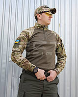 Убакс боевая рубашка из ткани CoolPass antistatic длинный рукав Мультикам