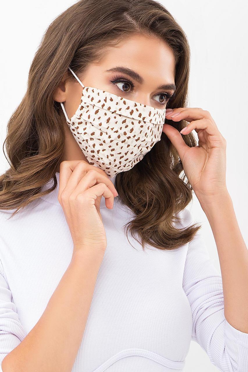 Маска для лица защитная тканевая с принтом
