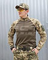 Убакс бойова сорочка з тканини CoolPass antistatic довгий рукав піксель ЗСУ