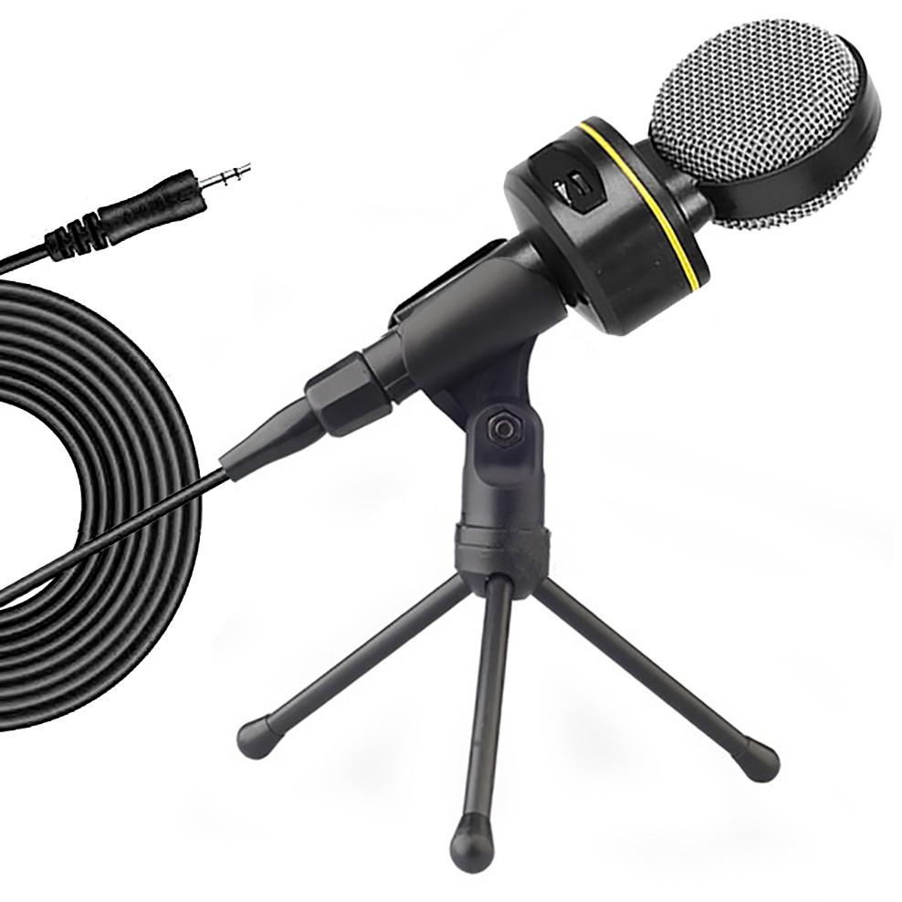 Конденсаторный микрофон (2 м) проводной с шумоподавлением для компьютера ноутбука Soncm SF-930 + штатив