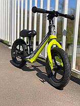 Велобег Corso Rocket , колесо 12 дюймов, надувные, магниевая рама, Черно-желтый, 63181