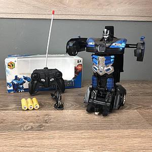 Детская игрушка робот Трансформер Bugatti машина игрушечная на радиоуправлении на пульте для мальчиков