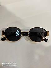 Солнцезащитные очки Модные Стильные 2021 овальные очки с золотистой оправой
