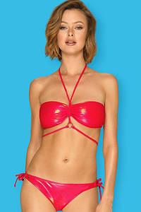 Купальник раздельный Obsessive Coralya - бюст с мягкой чашкой и бразилианки Красный