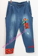 Джинсовые авангардные брюки с аппликациями Darkwin