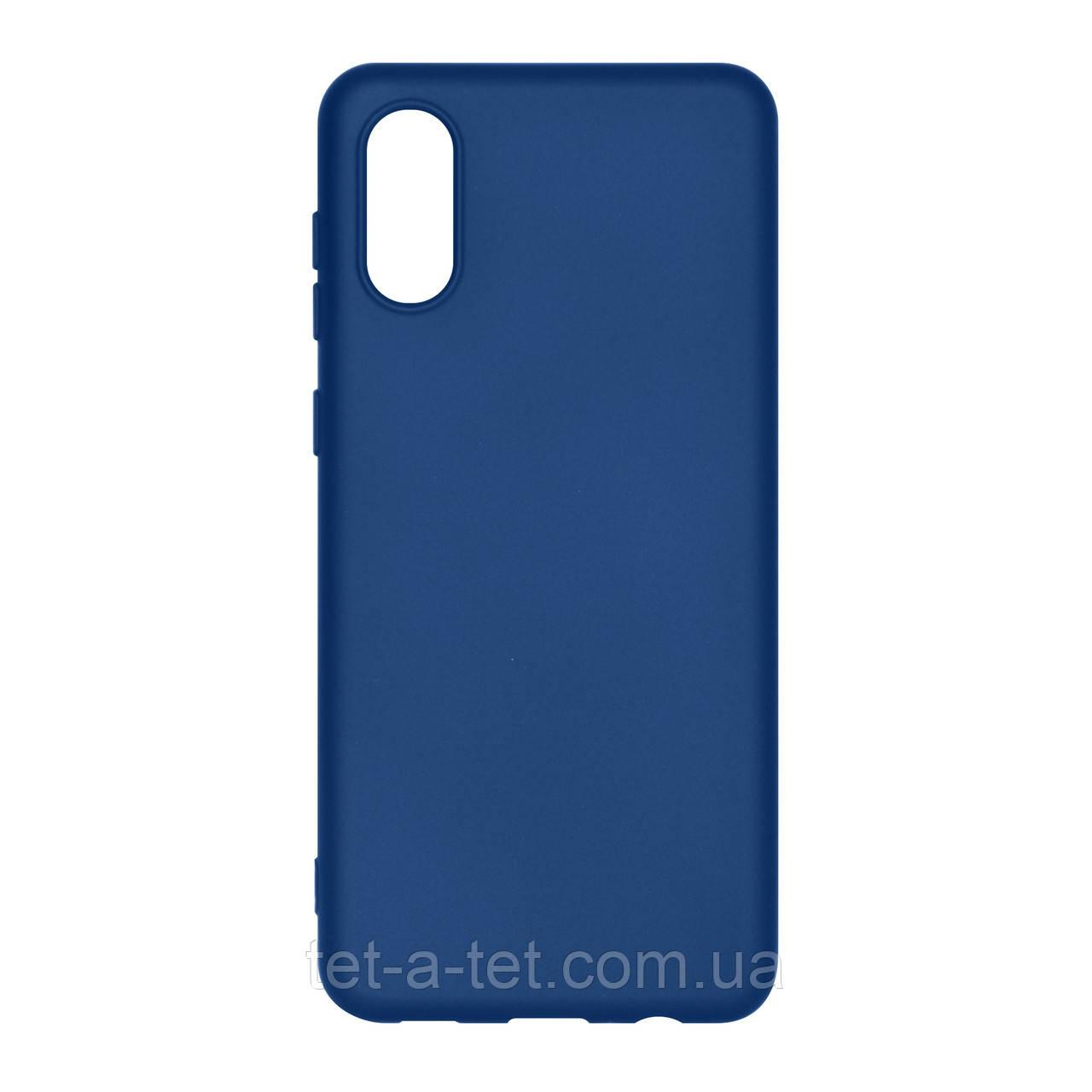 Чехол силиконовый ArmorStandart ICON Case for Samsung A02 (A022) Dark Blue