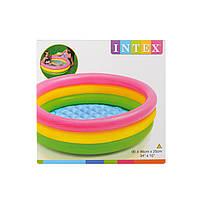 Бассейн детский надувной круглый Intex
