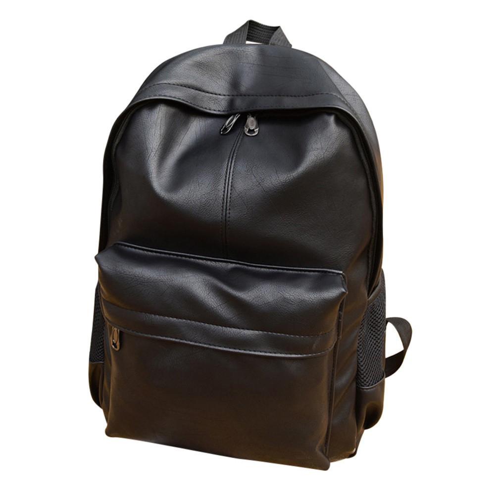 Рюкзак черный, унисекс рюкзак из эко-кожи, классический черный рюкзак CC-3705-10