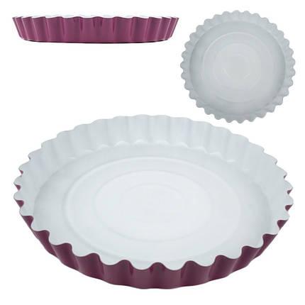 Форма с антипригарным покрытием для выпечки пирога D28см h3,5см, фото 2