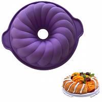 """Силиконовая форма для выпечки кексов и пирогов """"Кекс"""" Ø24.5 см арт. 840-72983"""