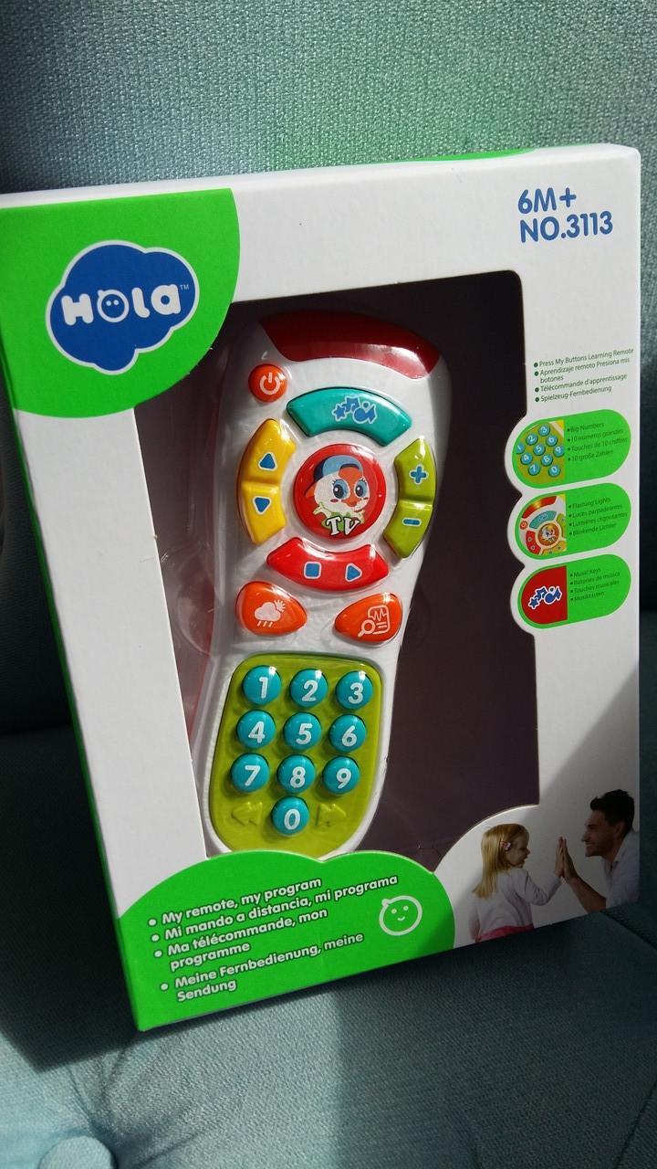 Пульт, Іграшка Hola Розумний пульт, світло, звук, мова англійська, в коробці 3113