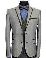 Твидовый мужской пиджак классический RC - №50/4 - Твид 9, фото 1
