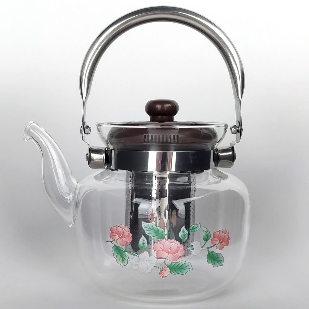 Скляний Чайник заварювальний 1,2 літра
