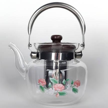 Скляний Чайник заварювальний 1,2 літра, фото 2
