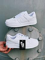 Женские кроссовки Nike Air Force White AF1 Люкс копия белые найк Аир Форс