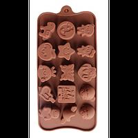 """Силиконовая форма для конфет """"Ассорти"""" арт. 840-64, фото 1"""