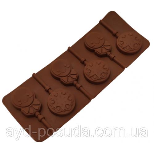 """Силіконова форма для цукерок Пряниковий чоловічок""""арт. 840-624"""