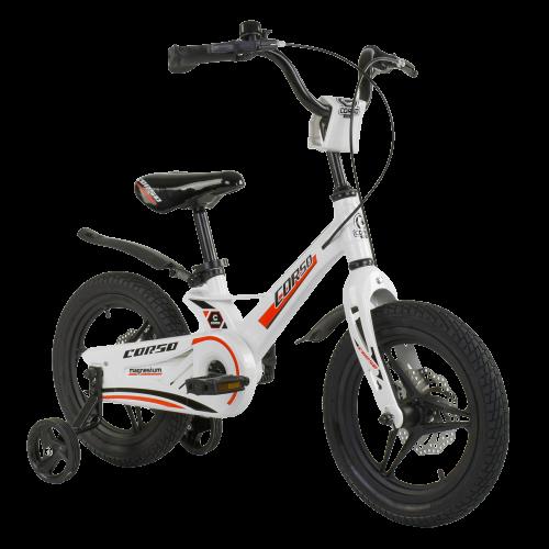Велосипед детский для мальчика девочки 3 4 5 лет колеса 14 дюймов Corso MG-62111 магниевая рама литые диски