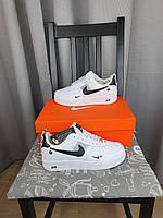 Женская обувь Найк Аир Форс 1 07 ЛВ8 Ультра Вайт. Женские кроссовки белые Nike Air Force 1 07 LV8 Ultra White.