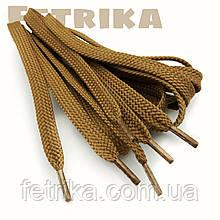 Шнурки плоские 7мм Kiwi рыжие 100 см