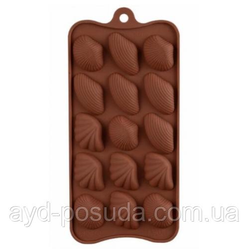 "Силіконова форма для цукерок ""Ракушки"" арт. 840-15A46630"