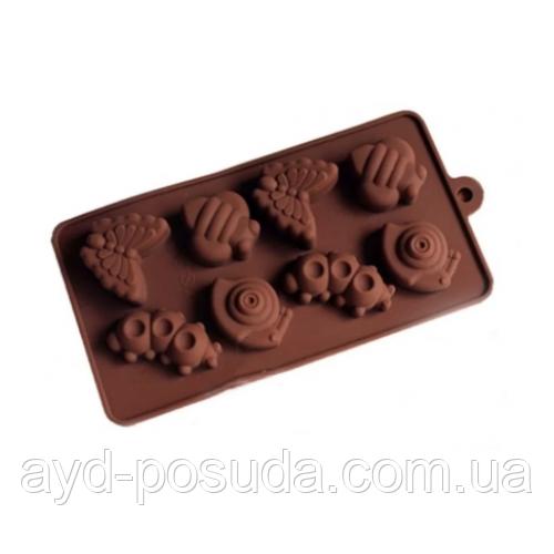 """Силиконовая форма для конфет """"Насекомые"""" арт. 840-15A46132"""