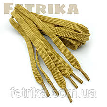 Шнурки плоские 7мм Kiwi светло-рыжие 100 см