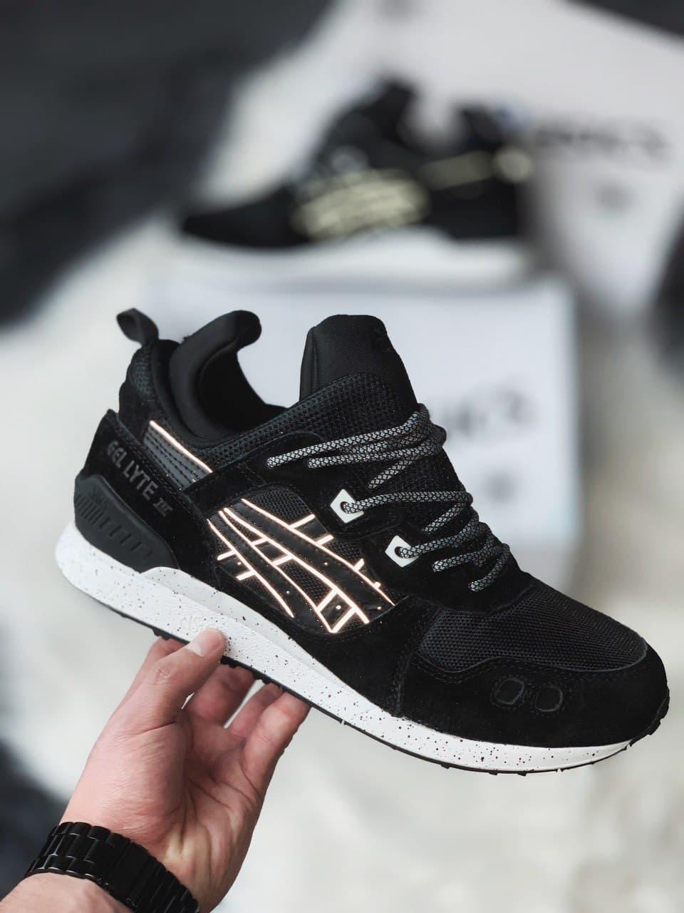 Кросівки чоловічі термо ASICS Gel lyte III black white