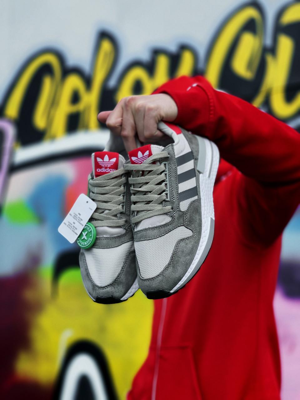 Женские кроссовки Adidas ZX 500 RM Grey Four (серые) J3286 удобные кроссы текстильные