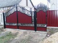 Новые ворота кованые