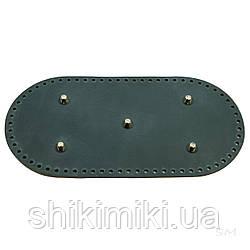 Дно сумки з натуральної шкіри з ніжками, 30*15, колір джинсовий, матовий