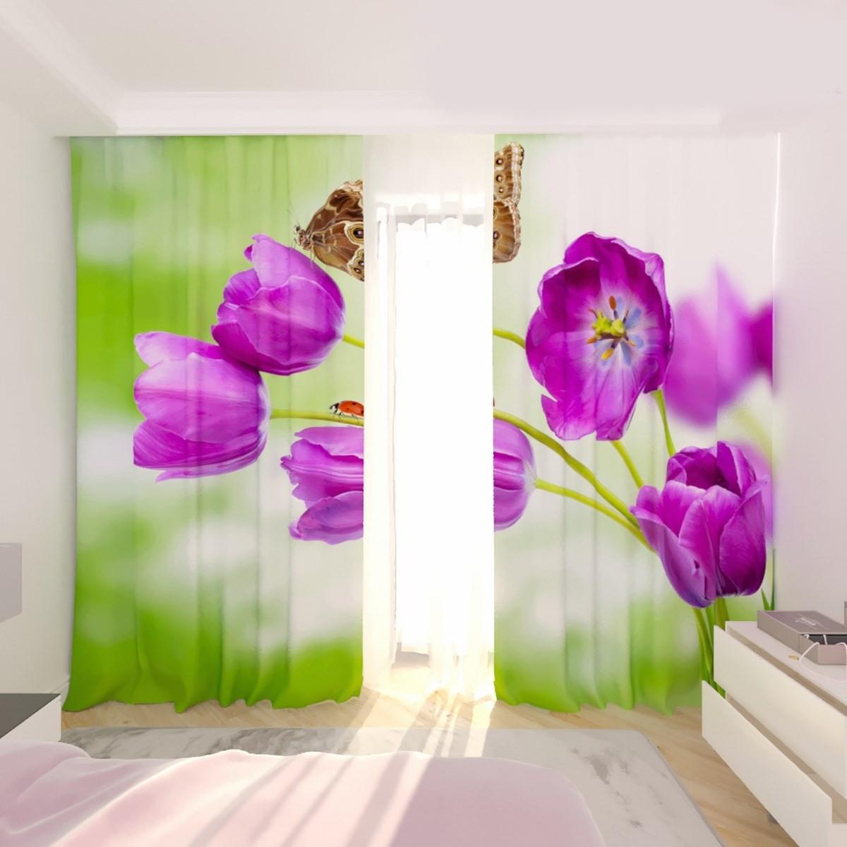 Фотошторы тюльпани