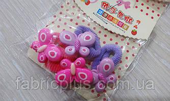 Детские резинки для волос Бабочки цвет в ассортименте(4 шт)